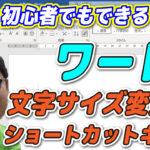【YouTube】Wordフォントサイズ変更ショートカットキー